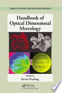 Handbook of Optical Dimensional Metrology