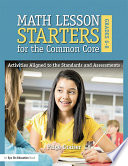 Math Lesson Starters for the Common Core  Grades 6 8