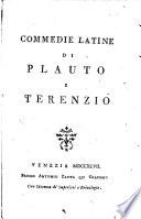 Commedie latine di Plauto e Terenzio