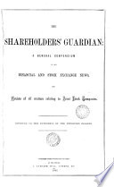 The Shareholders  guardian  a general compendium of all financial and stock exchange news