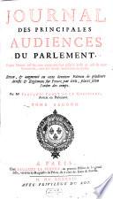 Journal des Principales Audiences du Parlement