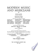 Modern music and musicians Book PDF