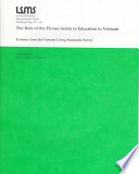 The Role of the Private Sector in Education in Vietnam