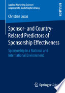 Sponsor  and Country Related Predictors of Sponsorship Effectiveness