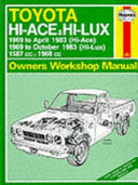 Toyota Hi Ace Hi Lux Owners Workshop Manual