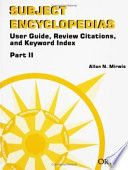 Subject Encyclopedias  Keyword index