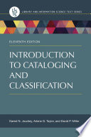 Introduction to Cataloging and Classification  11th Edition