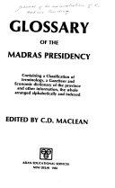 Glossary of the Madras Presidency