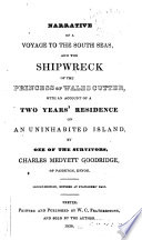 Narrative of a Voyage to the South Seas, and the Shipwreck of the Princess of Wales Cutter