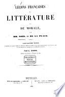 Leçons françaises de littérature et de moral par François Joseph Noël et de La Place