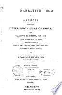 Narrative of a journey through the upper provinces of India from Calcultta to Bombay