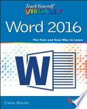 Teach Yourself Visually Word 2016