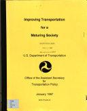 Improving Transportation for a Maturing Society