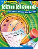 Math Minutes 8th Grade Ebook book