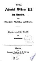 König Friedrich Wilhelm III., der Gerechte
