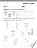Kindergarten Foundational Phonics Skills  Primary Sound y
