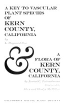 A key to vascular plant species of Kern County  California