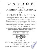 Voyage dans l hemisphere austral et autour du monde fait      en 1772 1775  etc
