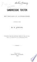 Sangireesche teksten, met vertaling en aanteekeningen