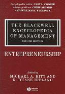 The Blackwell Encyclopedia of Management  Entrepreneurship