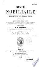 Revue nobiliaire, héraldique et biographique...