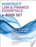 Nonprofit Law   Finance Essentials e book set