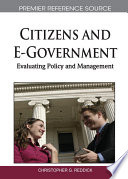 Citizens And E Government Evaluating Policy And Management