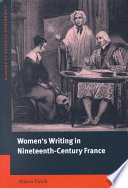 Women s Writing in Nineteenth Century France