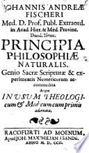Principia Philosophiae naturalis