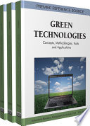 Green Technologies  Concepts  Methodologies  Tools and Applications