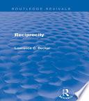 Reciprocity  Routledge Revivals