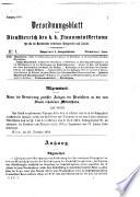 Verordnungsblatt für den Dienstbereich des K.K. Finanzministeriums für die im Reichsrate Vertretenen Königreiche und Länder