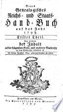 Neues Genealogisches Reichs- und Staats-Handbuch