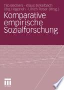 Komparative empirische Sozialforschung