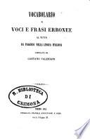 Vocabolario di voci e frasi erronee al tutto da fuggirsi nella lingua italiana