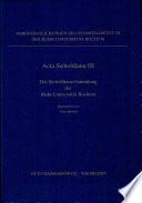 Die Sieboldiana-Sammlung der Ruhr-Universität Bochum