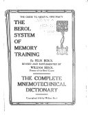 The Berol System of Memory Training