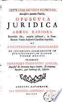 Opuscula juridica adhuc rariora