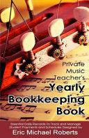 Private Music Teacher s Yearly Bookkeeping Book
