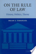 On the Rule of Law