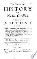 The Natural History of North Carolina