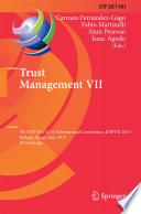 Trust Management VII