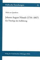 Johann August Nösselt (1734-1807)