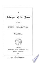 A catalogue of the books in the Finch collection  in the Taylor institution  Oxford  by G  Parker