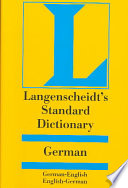 Langenscheidt s standard German dictionary