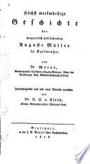 Höchst merkwürdige Geschichte der magnetisch hellsehenden Auguste Müller in Karlsruhe