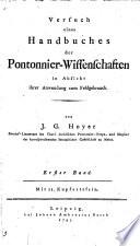 Versuch eines Handbuches der Pontonnier-Wissenschaften in Absicht ihrer Anwendung zum Feldgebrauch