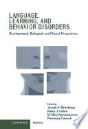 Language  Learning  and Behavior Disorders