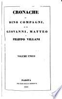 cronache di dino compagni e di giovanni matteo e filippo villani