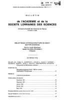 Bulletin de l Acad  mie   Soci  t   lorraines des sciences